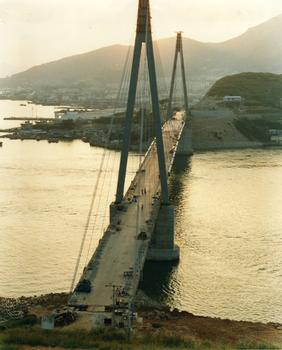 Dolsan Bridge prior to installation of wearing surface.
