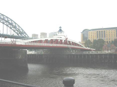 Newcastle Swing Bridge  Swing Bridge with Hyton hotel at right of photograph ie Gateshead side of river
