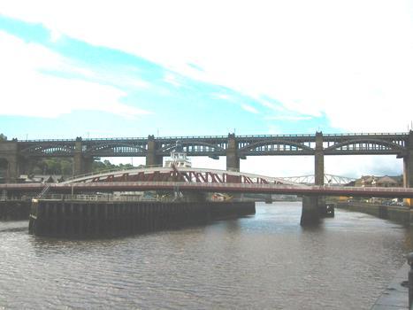 Swing Bridge & High Level Bridge, Newcastle.