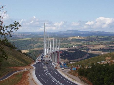 Viaduc de Millau Fin de'enrobage côté Larzac