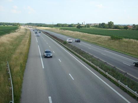 Autoroute A 35, vers le Sud (Bâle/CH) à Habsheim (68/Haut-Rhin)