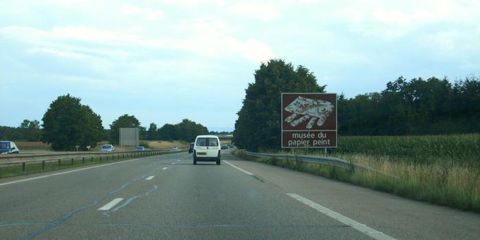Autoroute A 35 à 68170 Rixheim (sens nord vers sud)