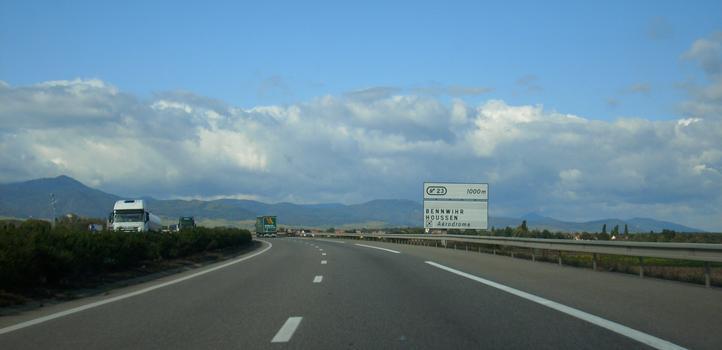 Autoroute A 35, au nord-est de Colmar en direction de Strasbourg