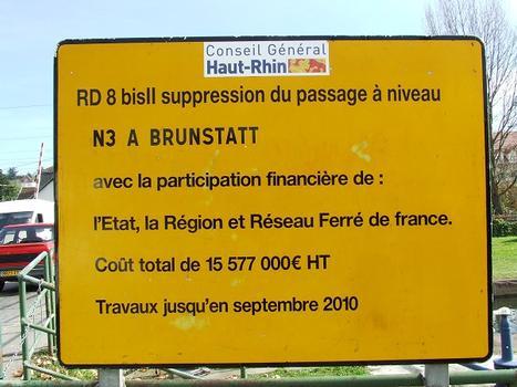 Straßenunterführung Brunstatt