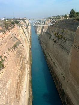 Grèce: Le Canal de Corinthe. Vue vers le Nord-Ouest