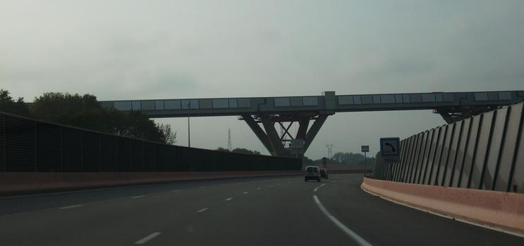 Ligne LGV Rhin-Rhône: Viaduc de la Savoureuse depuis l'Autoroute A 36 sens Belfort-Montbéliard