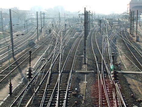 Gare SNCF de Mulhouse, coté sud - voies ferrées