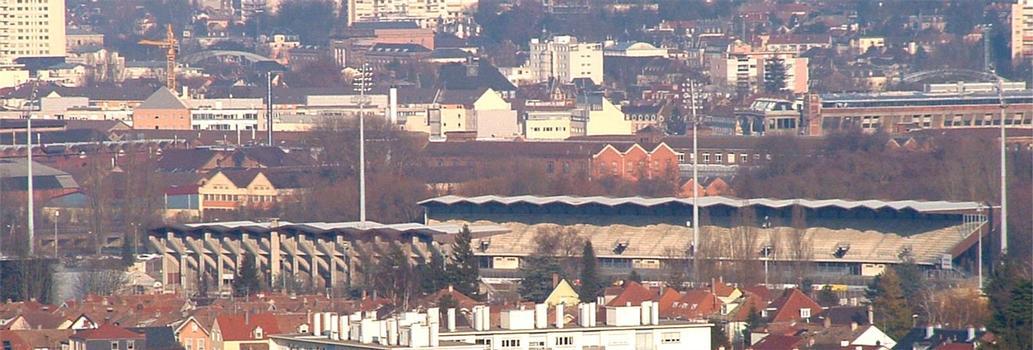 Mulhouse: Stade de l'Ill vu depuis la Tour Plein Ciel A.