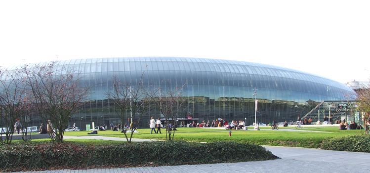 Nouvelle façade de la Gare SNCF de Strasbourg.