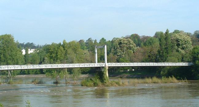 Pont Saint-Symphorien sur la Loire à Tours. (passage des piétons et 2 roues uniquement)