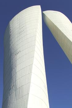 Water towers at Valence designed by Philolaos Tloupas