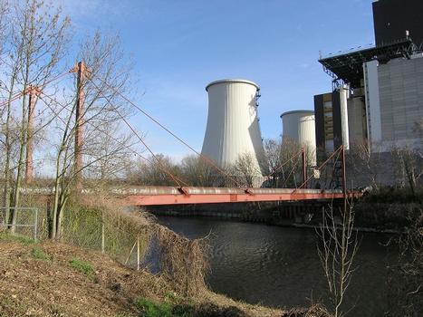 Versorgerbrücke über den Teltowkanal zum Kraftwerk Berlin Lichterfelde