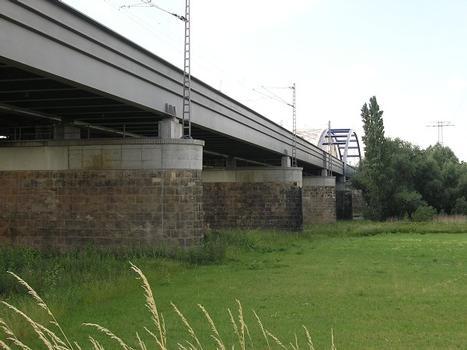 Eisenbahnbrücke über die Elbe, Riesa