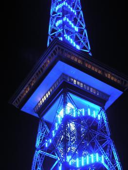 Funkturm (während des Festival of Lights)