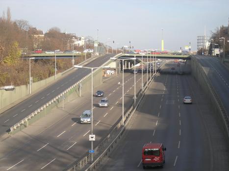A 103 - Friedenauer Brücke, Berlin-Steglitz - Ausfahrt Saarstrasse