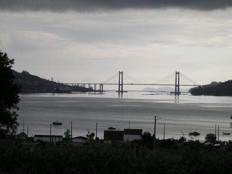 Puente Rande, Vigo, Spanien