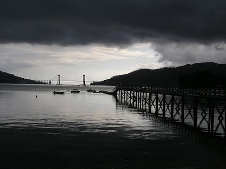 Puente de Rande, Vigo, Spanien