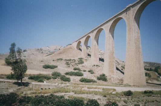 Pont rail à Béjà, Tunisie