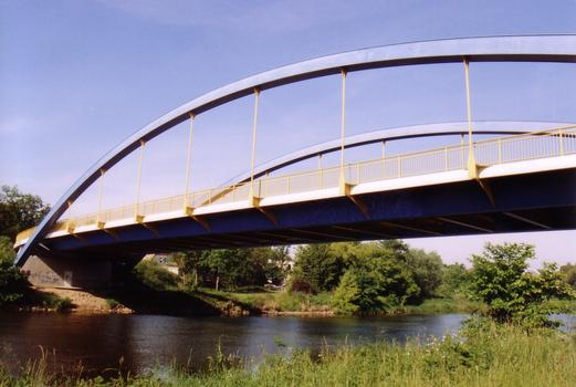 Nienburg Bridge crossing the Saale River