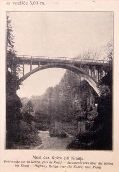 Kokrabrücke Kranj, erste Brücke