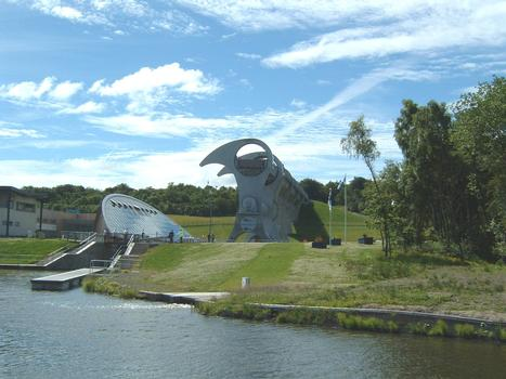 Falkirk Wheel viewed from the Clyde Canal