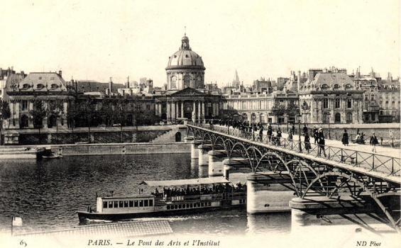 Pont des Arts, Paris. Postkarte aus der Privatsammlung von Jochem Hollestelle.