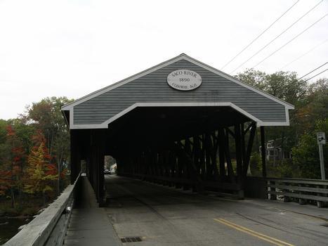 Saco River Covered Bridge, Conway, New Hampshire, USA.