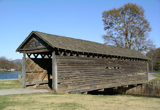 Coldwater Covered Bridge Relocated to Oxford Lake Oxford, Alabama USA