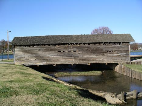 Coldwater Covered Bridge Relocated from Coldwater Alabama to Oxford Lake Park Oxford, Alabama USA