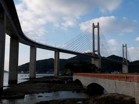 Yobuko- und Bentenjima-Brücke, Yobuko, Japan