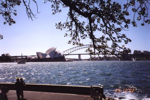 Opera House & Harbour Bridge, Sydney, Australia.