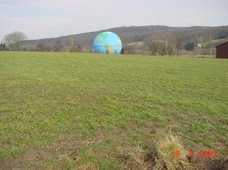 Gaskugel in WengernAnsicht von Süden