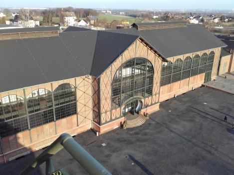 Maschinenhalle vom Förderturm aus gesehen