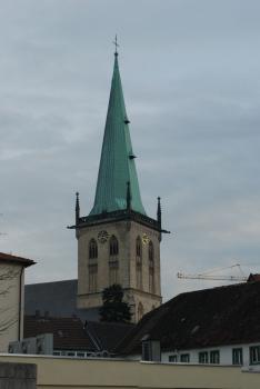 Evangelische Stadtkirche Unna:Kirchturm von Nordosten