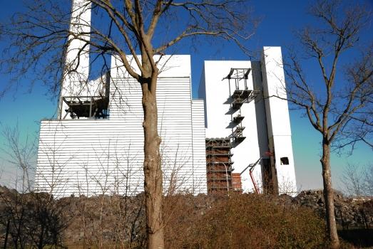 Kraftwerk Gustav Knepper : Kesselhaus von Südwesten