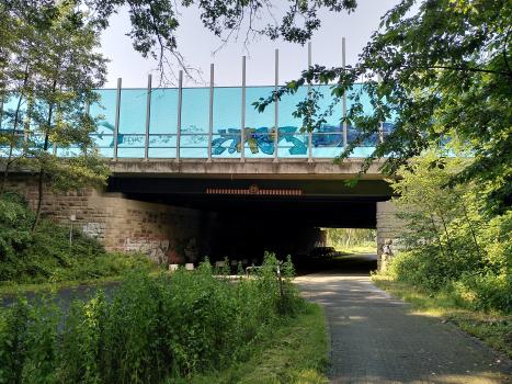 Brücke Oststraße : Ansicht von Süden