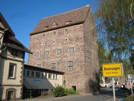 Alte Burg Beverungen (Kreis Höxter), Ansicht von Südwesten