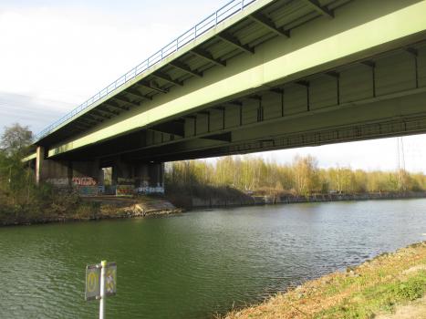 Pont de l'A42 sur le Canal Rhin-Herne