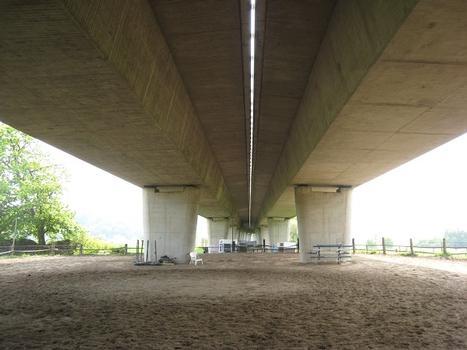 Kosterbrücke : von der Blankensteiner Straße (nördliche Ruhrseite) in Richtung Ruhr (Süden) fotografiert