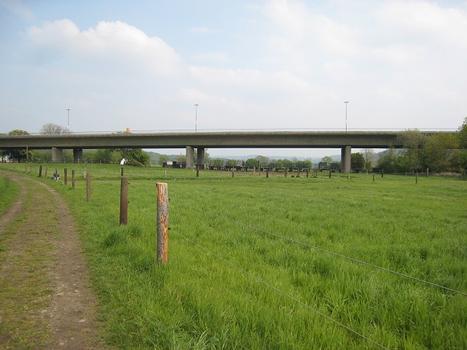 Kosterbrücke : nördliche Ruhrseite, von Westen auf die Brücke fotografiert