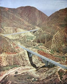Viaduct No. 3 at bottom and Viaduct No. 2 at front