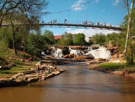 Liberty Bridge at Reedy River Falls, Greenville, SC