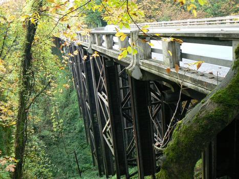 Newbury St. Viaduct on Barbur Blvd (Hwy 99W), Portland, Oregon