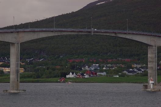 Sandnessund Bridge, Tromsø, Troms, Norwegen