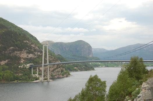 Lysefjord Brücke, bei Forsand, Rogaland, Norwegen