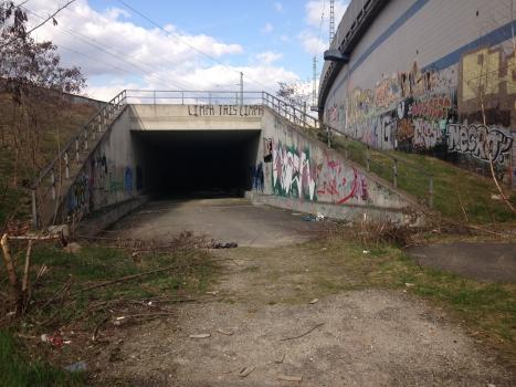 Tunneleinfahrt am S-Bhf Wedding für die zukünftige S-Bahnverbindung