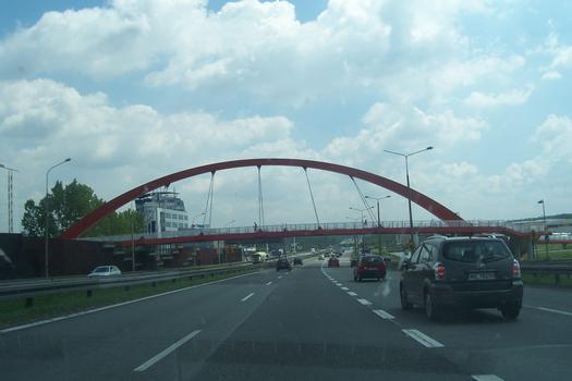 Footbridge across A 4 motorway between Katowice and Cracow
