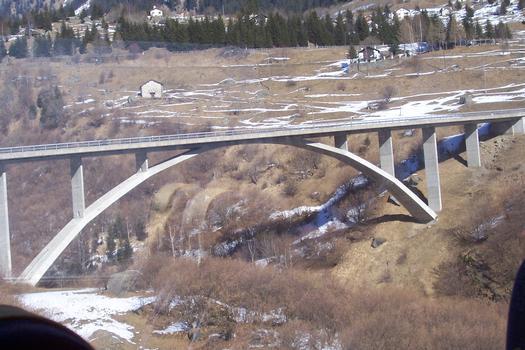 Cascella-Brücke in der Schweiz, Kanton Graubünden