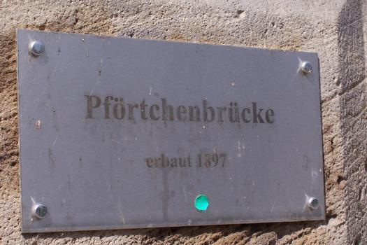Pförtchenbrücke, Erfurt