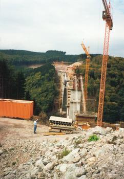 Talbrücke Wilde Gera im Bau